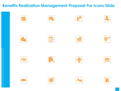 Benefits Realization Management Proposal For Icons Slide Demonstration PDF