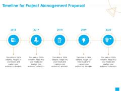 Benefits Realization Management Timeline For Project Management Proposal Background PDF