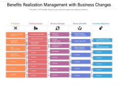 Benefits Realization Management With Business Changes Ppt PowerPoint Presentation Infographics Skills PDF