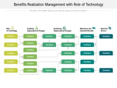 Benefits Realization Management With Role Of Technology Ppt PowerPoint Presentation Summary Layout Ideas PDF