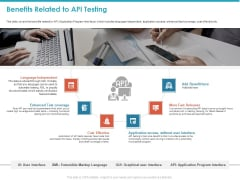 Benefits Related To API Testing Ppt Model Demonstration PDF