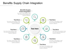 Benefits Supply Chain Integration Ppt PowerPoint Presentation Guidelines Cpb