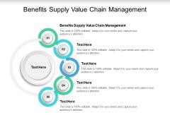 Benefits Supply Value Chain Management Ppt PowerPoint Presentation Summary Master Slide Cpb
