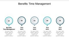 Benefits Time Management Ppt PowerPoint Presentation Infographics Icon Cpb