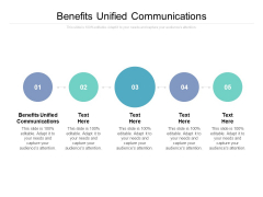 Benefits Unified Communications Ppt PowerPoint Presentation Pictures Background Images Cpb