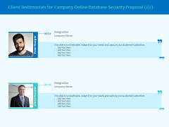 Best Data Security Software Client Testimonials For Company Online Database Proposal Topics PDF