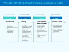 Best Data Security Software Process Flow For Company Online Database Security Elements PDF