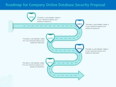 Best Data Security Software Roadmap For Company Online Database Security Proposal Graphics PDF
