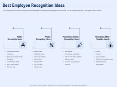 Best Employee Appreciation Workplace Best Employee Recognition Ideas Rules PDF