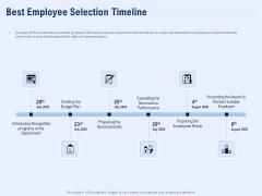 Best Employee Appreciation Workplace Best Employee Selection Timeline Ideas PDF