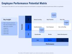 Best Employee Appreciation Workplace Employee Performance Potential Matrix Brochure PDF
