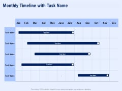 Best Employee Appreciation Workplace Monthly Timeline With Task Name Portrait PDF
