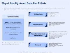 Best Employee Appreciation Workplace Step 4 Identify Award Selection Criteria Background PDF