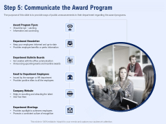 Best Employee Appreciation Workplace Step 5 Communicate The Award Program Professional PDF