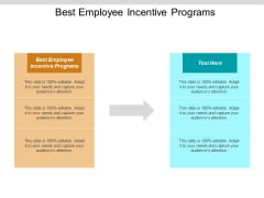 Best Employee Incentive Programs Ppt PowerPoint Presentation Professional Mockup Cpb