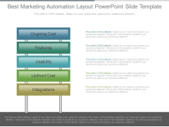 Best Marketing Automation Layout Powerpoint Slide Template