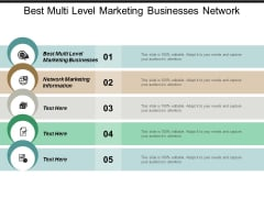 Best Multi Level Marketing Businesses Network Marketing Information Ppt PowerPoint Presentation Styles Show