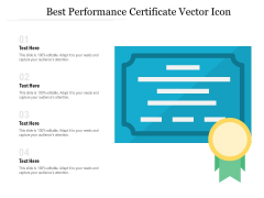 Best Performance Certificate Vector Icon Ppt PowerPoint Presentation Gallery Portrait PDF