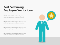 Best Performing Employee Vector Icon Ppt PowerPoint Presentation File Gallery PDF