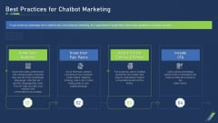 Best Practices For Chatbot Marketing Ppt Styles Brochure PDF