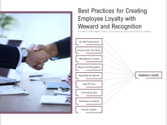 Best Practices For Creating Employee Loyalty With Weward And Recognition Ppt PowerPoint Presentation File Template PDF
