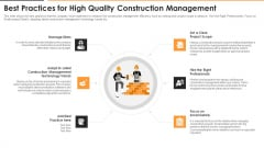 Best Practices For High Quality Construction Management Themes PDF