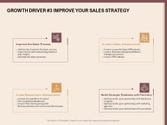 Best Practices For Increasing Lead Conversion Rates Growth Driver 3 Improve Your Sales Strategy Elements PDF