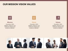 Best Practices For Increasing Lead Conversion Rates Our Mission Vision Values Ppt Layouts Styles PDF
