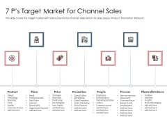 Best Practices Increase Revenue Out Indirect 7 Ps Target Market For Channel Sales Pictures PDF