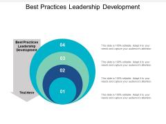 Best Practices Leadership Development Ppt PowerPoint Presentation Icon Microsoft Cpb
