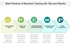 Best Practices Of Business Training With Test And Results Ppt PowerPoint Presentation File Images PDF