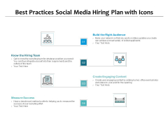 Best Practices Social Media Hiring Plan With Icons Ppt PowerPoint Presentation Inspiration Deck