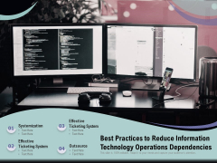 Best Practices To Reduce Information Technology Operations Dependencies Ppt PowerPoint Presentation Pictures Graphics PDF