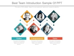 Best Team Introduction Sample Of Ppt