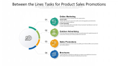 Between The Lines Tasks For Product Sales Promotions Pictures PDF