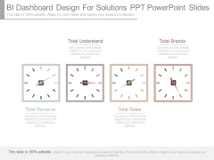 Bi Dashboard Design For Solutions Ppt Powerpoint Slides