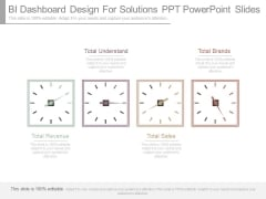 Bi Dashboard Design For Solutions Ppt Powerpoint Slides