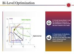 Bi Level Optimization Ppt PowerPoint Presentation Model Summary