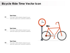 Bicycle Ride Time Vector Icon Ppt PowerPoint Presentation File Summary PDF