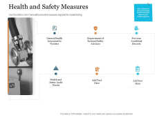 Bid Governance Analysis Health And Safety Measures Ppt Icon Design Inspiration PDF
