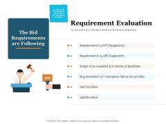Bid Governance Analysis Requirement Evaluation Ppt Summary Ideas PDF