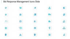 Bid Response Management Icons Slide Ppt PowerPoint Presentation Visuals PDF