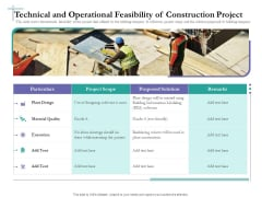Bidding Cost Comparison Technical And Operational Feasibility Of Construction Project Ppt Show Master Slide PDF