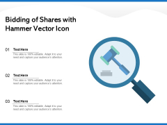 Bidding Of Shares With Hammer Vector Icon Ppt PowerPoint Presentation Portfolio Good PDF