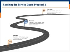 Bids And Quotes Proposal Roadmap For Service Quote Proposal 3 Ppt Gallery Design Inspiration PDF