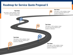 Bids And Quotes Proposal Roadmap For Service Quote Proposal 5 Ppt Portfolio Inspiration PDF