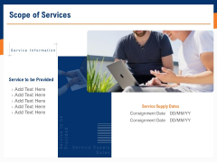 Bids And Quotes Proposal Scope Of Services Ppt Infographics Ideas PDF