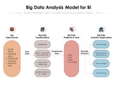 Big Data Analysis Model For BI Ppt PowerPoint Presentation Infographic Template Portfolio PDF