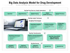 Big Data Analysis Model For Drug Development Ppt PowerPoint Presentation Show Vector PDF