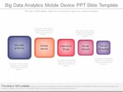 Big Data Analytics Mobile Device Ppt Slide Template